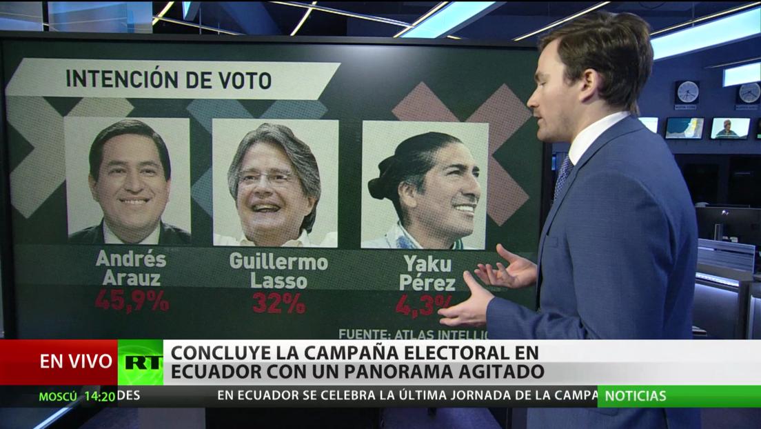 Agitada recta final en la campaña electoral en Ecuador