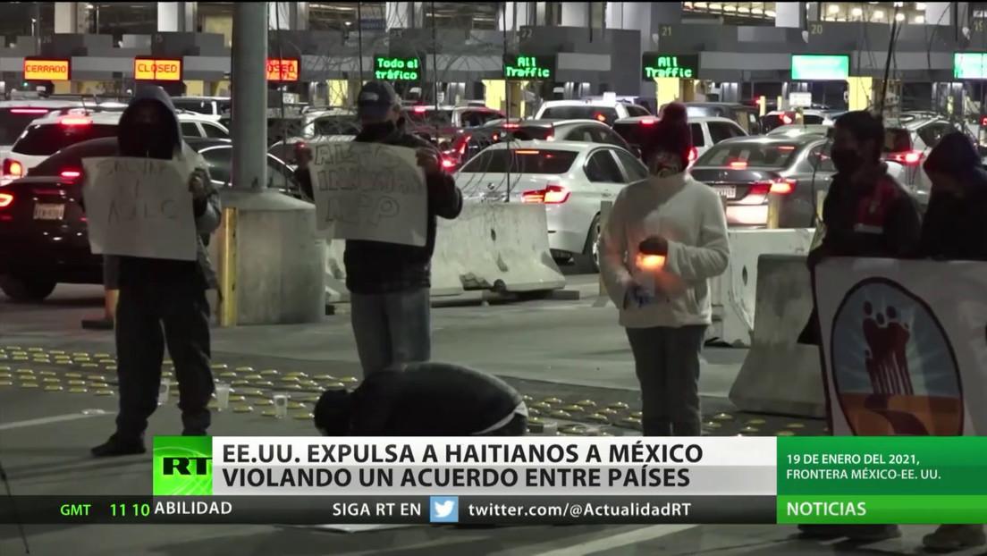 EE.UU. deporta a más de 100 inmigrantes haitianos a México