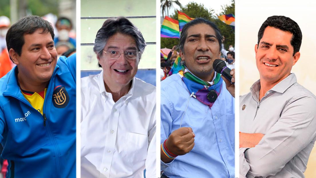 Desde un economista hasta un empresario 'tiktokero': los perfiles y propuestas de los principales candidatos a la Presidencia de Ecuador