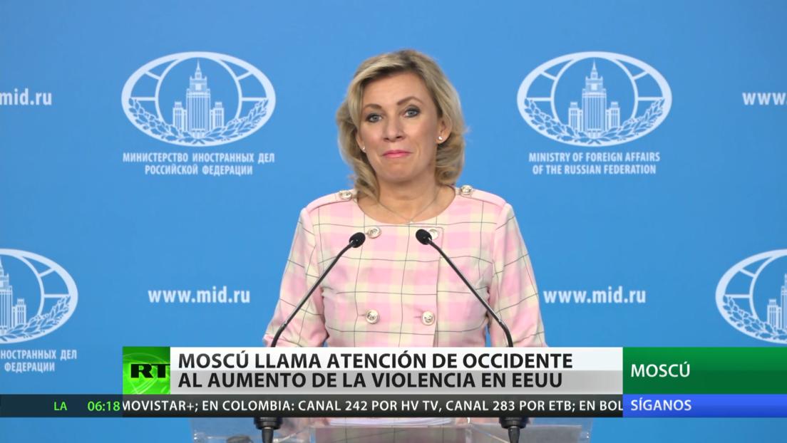 Moscú llama la atención de Occidente sobre la intensificación de la violencia en EE.UU.