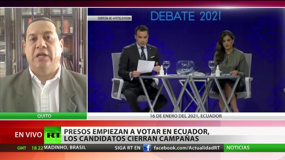 Ecuador: concluye la campaña electoral, empiezan a votar los presos