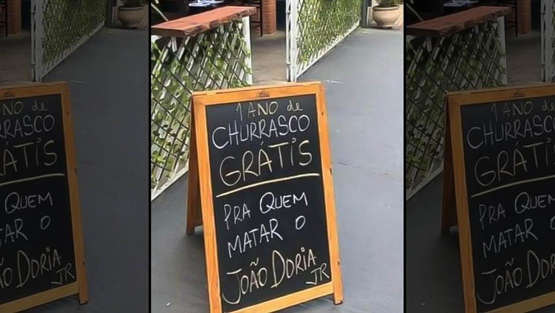 """Detienen al dueño de un restaurante en Sao Paulo que ofreció """"un año de churrasco gratis"""" para quien matase al gobernador"""