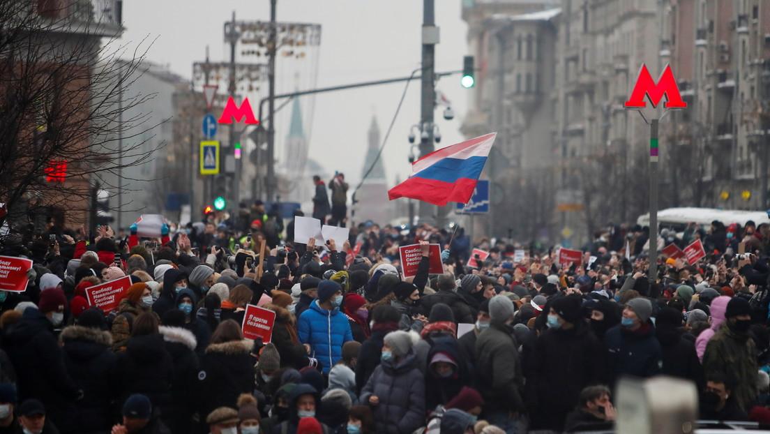 Rusia expulsa a tres diplomáticos europeos por participar en protestas no autorizadas