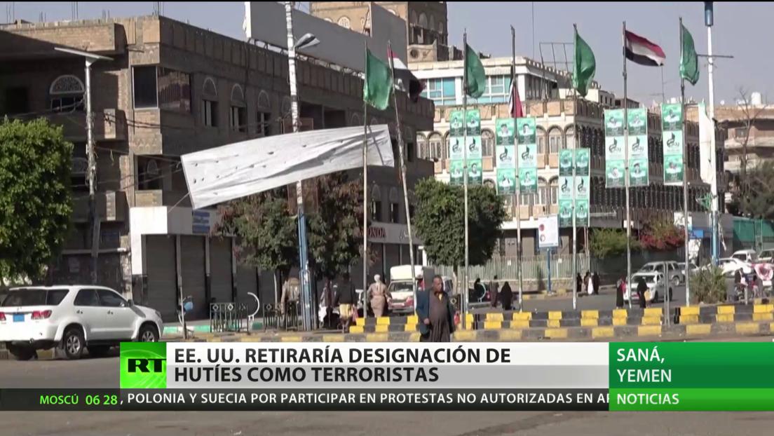 Reportan que EE.UU. retirará la designación de los hutíes de Yemen como grupo terrorista