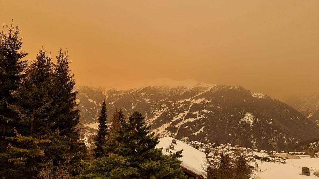 FOTOS: Zonas de Suiza y Francia quedan cubiertas por una niebla amarillenta y lluvia de arena del Sáhara
