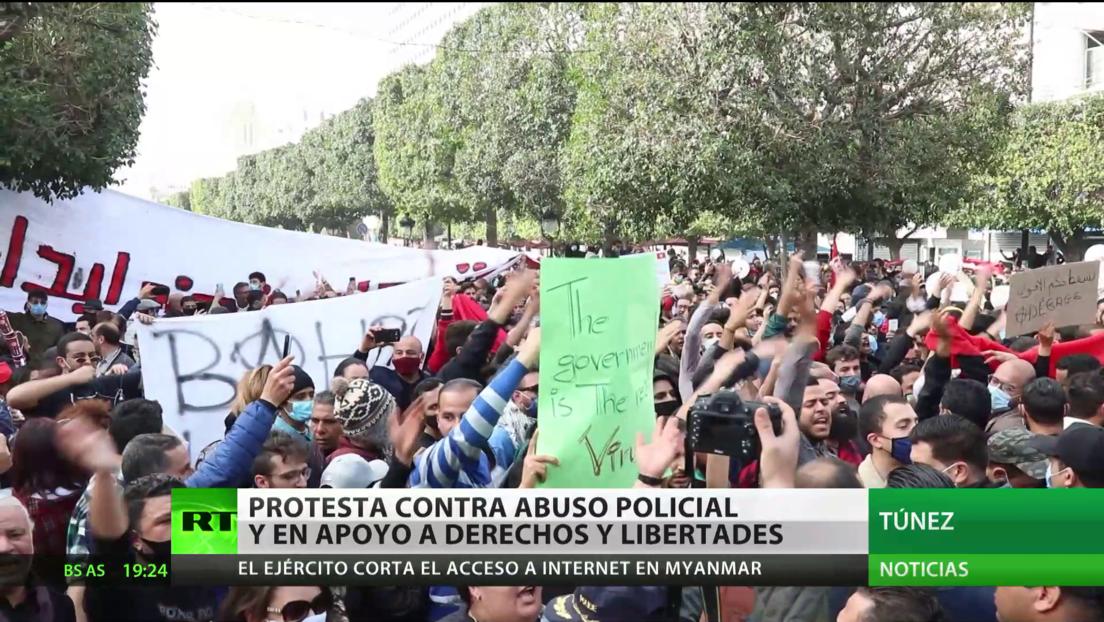 Túnez: Multitudinarias protestas contra el abuso policial y en favor de los derechos y libertades