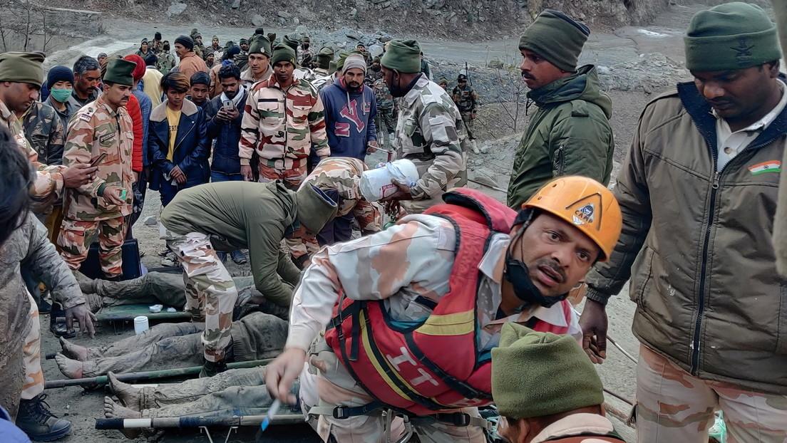 VIDEOS: Rescatan a 16 personas y buscan a un centenar de desaparecidos tras la ruptura de un glaciar en la India