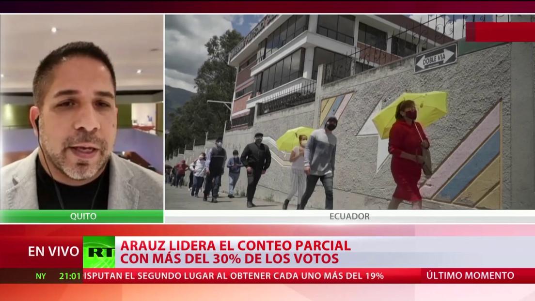 Arauz lidera el conteo parcial con más del 30 % de los votos