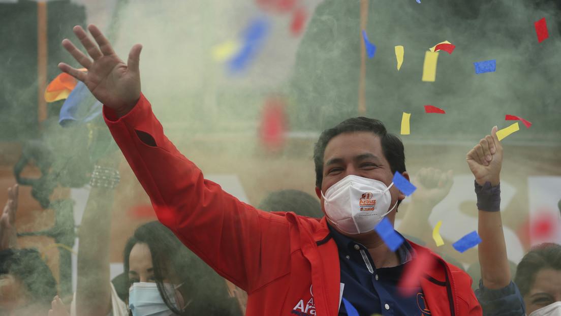 Andrés Arauz gana la primera vuelta en las presidenciales de Ecuador, mientras Lasso y Pérez se disputan voto a voto el paso a la segunda