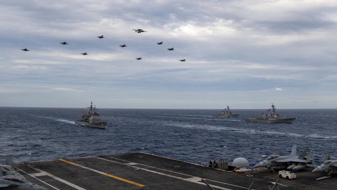 Dos grupos de portaaviones de EE.UU. realizan ejercicios conjuntos en el disputado mar de China Meridional