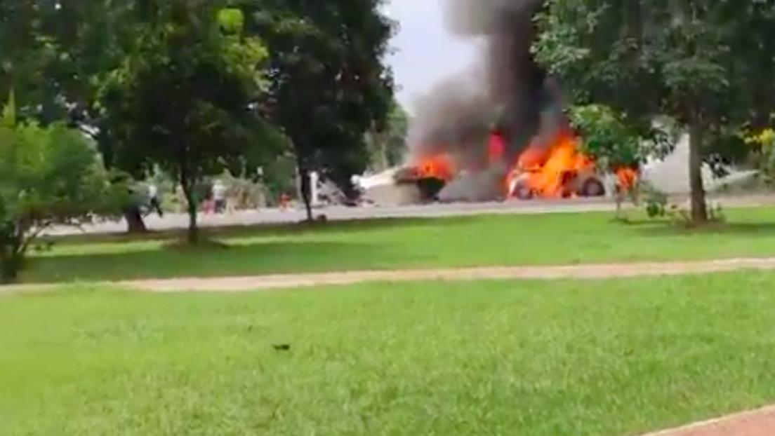 Siete personas mueren al estrellarse una avioneta de la Fuerza Aérea de Paraguay y un tripulante sobrevive