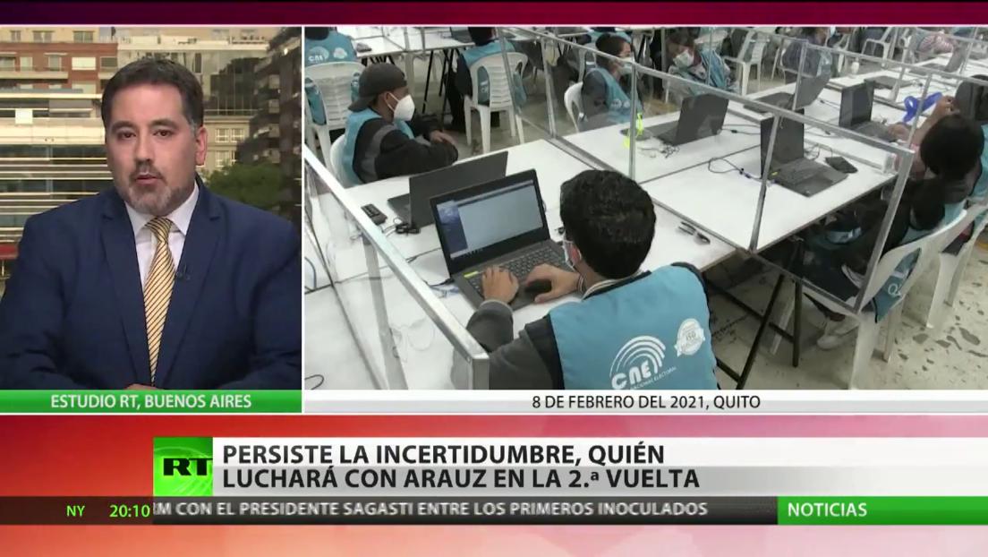 Incertidumbre en Ecuador: ¿Quién se enfrentará con Arauz en la segunda vuelta de las elecciones?