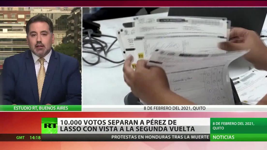 10.000 votos separan a Yaku Pérez de Lasso de cara a la segunda vuelta de las elecciones en Ecuador