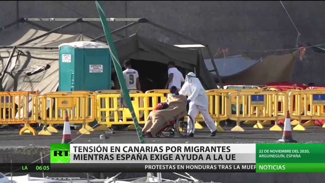 Canarias: Tensión por migrantes mientras España exige ayuda a la UE