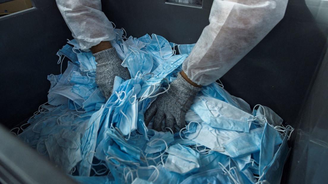 Un kilómetro de carretera  a partir de 3 millones de mascarillas: desarrollan una innovadora técnica de reciclaje de cubrebocas