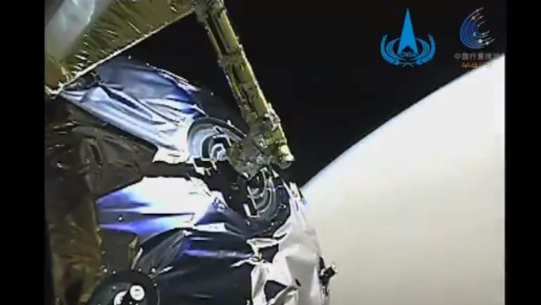 VIDEO: La sonda china Tianwen-1 muestra las imágenes de Marte que ha captado tras alcanzar la órbita del planeta rojo