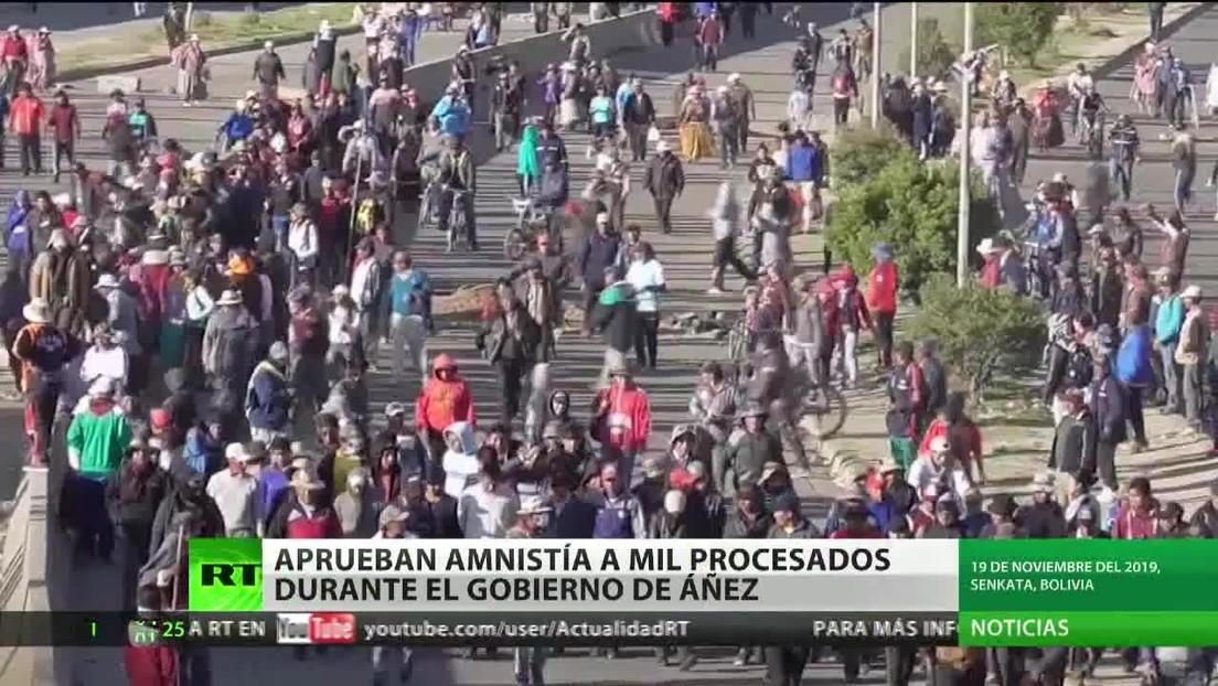 Bolivia decreta amnistía para más de 1.000 procesados durante el Gobierno de Áñez