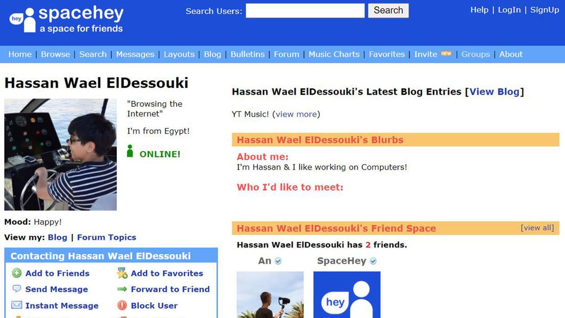 Qué es SpaceHey, la reencarnación de MySpace para los nostálgicos del viejo Internet creada por un joven de 18 años y que ya tiene miles de usuarios