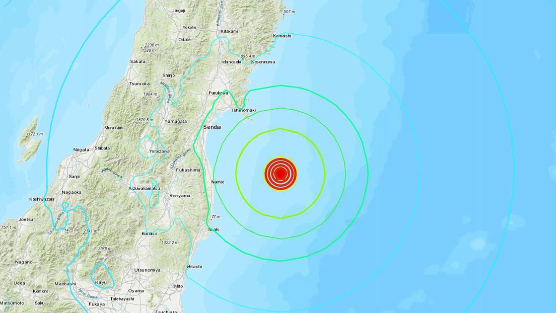 Un sismo de magnitud 7,1 frente a la costa de la prefectura japonesa de Fukushima