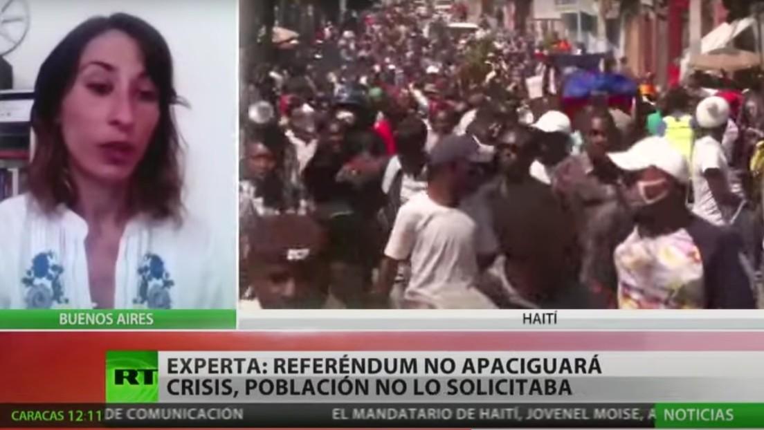 """Experta: """"El referéndum que propone el presidente de Haití no apaciguará la crisis y no fue solicitado por la población"""""""