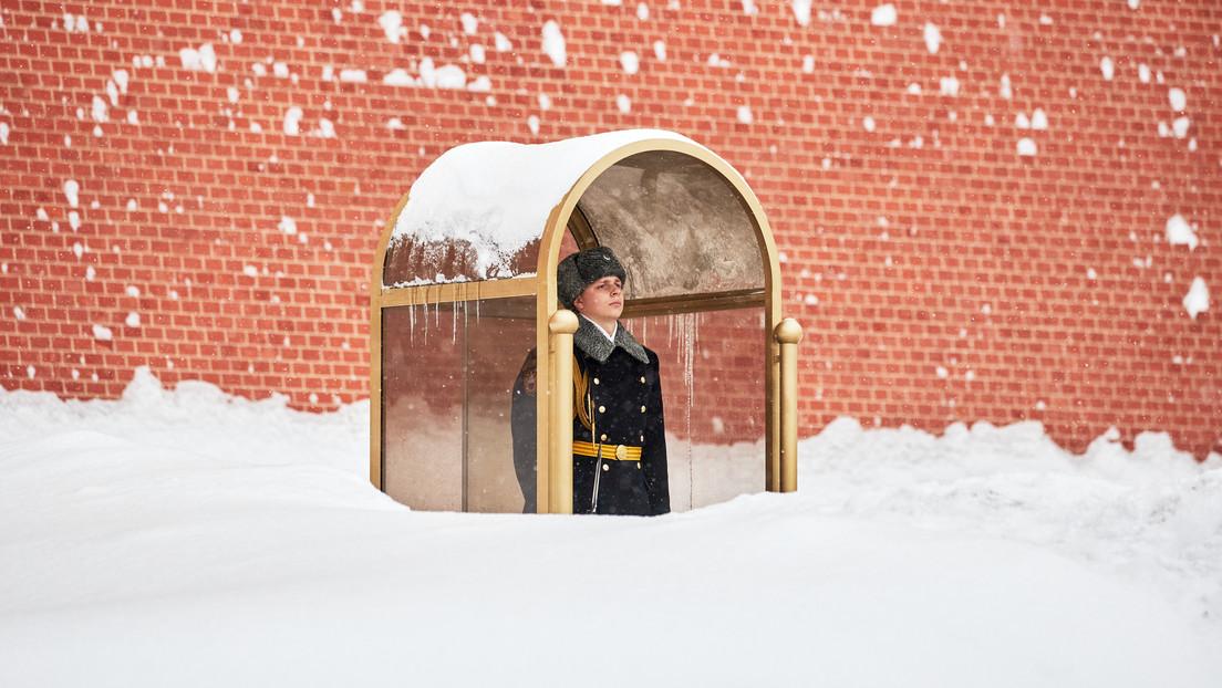 Las nevadas en Moscú se convierten en unas de las más fuertes en la historia de las observaciones