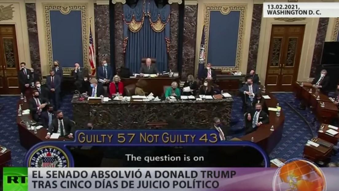 El Senado absuelve a Donald Trump tras cinco días de juicio político