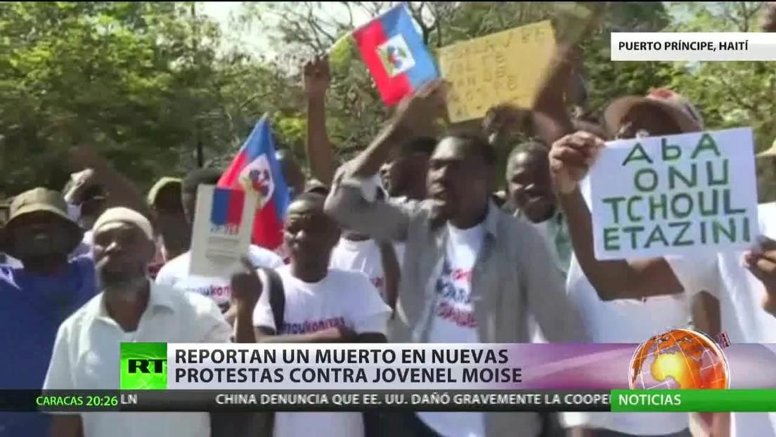 Reportan un muerto en nuevas protestas contra Moise en Haití
