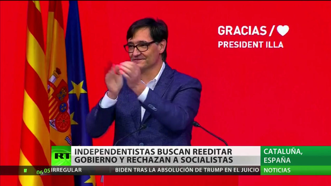 Cataluña: Independentistas buscan reeditar el gobierno y rechazan a los socialistas