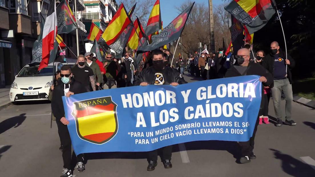 VIDEO: Cientos de neonazis homenajean en Madrid a la División Azul e incitan a incumplir las medidas contra el covid-19