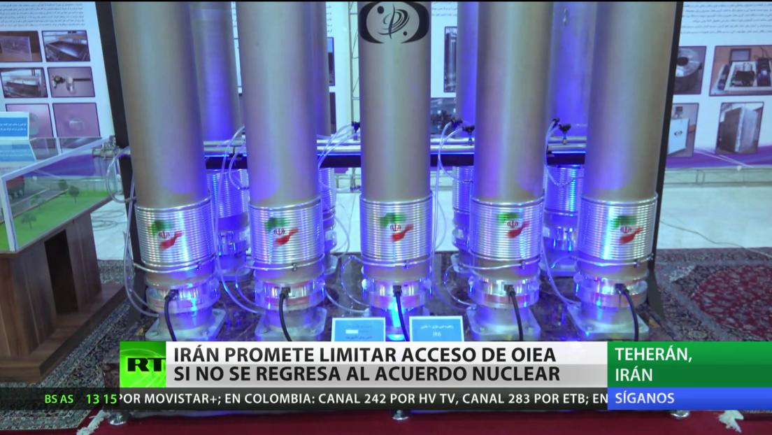 Irán promete limitar el acceso de OIEA si no se retoma el acuerdo nuclear