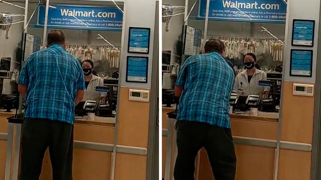 VIDEO: Una farmacia de Walmart rechaza vender medicamentos a un anciano que trataba de pagar con monedas