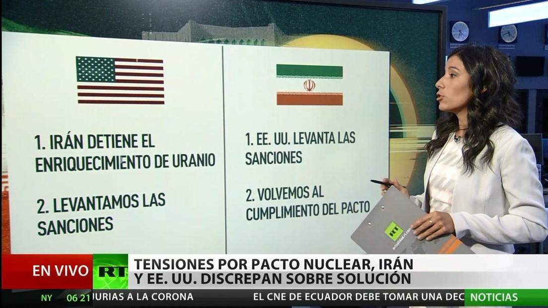 Tensiones por el pacto nuclear: Irán y EE.UU. discrepan sobre la solución