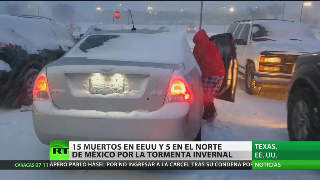 Al menos 15 muertos en EE.UU. y cinco en el norte de México tras la tormenta invernal