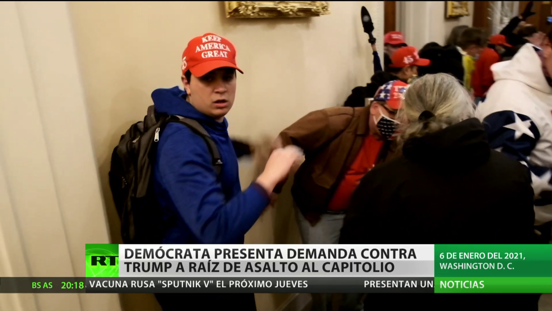 Un congresista demócrata presenta una demanda contra Trump relacionada con el asalto al Capitolio