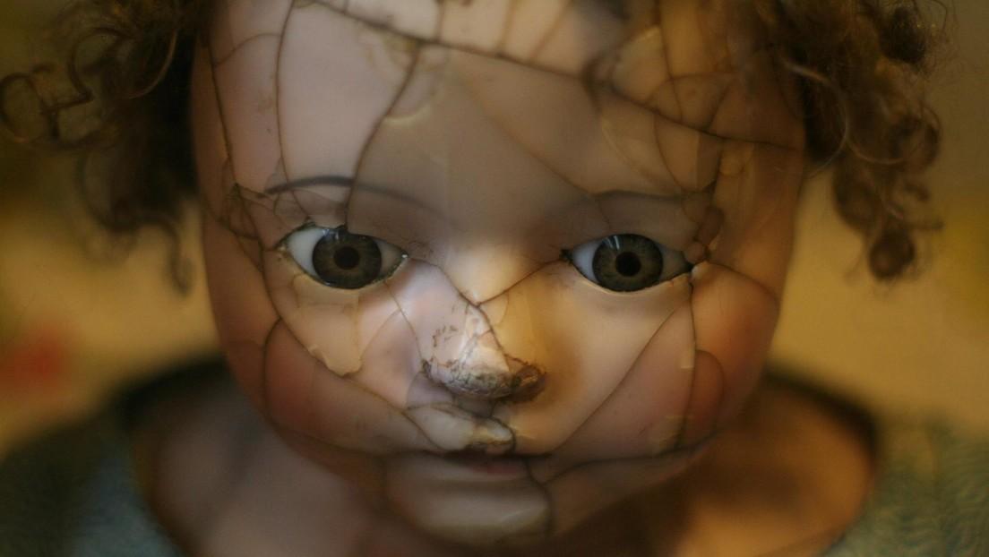 FOTOS: Hallan una tétrica colección de muñecos clavados en árboles en un bosque de Inglaterra