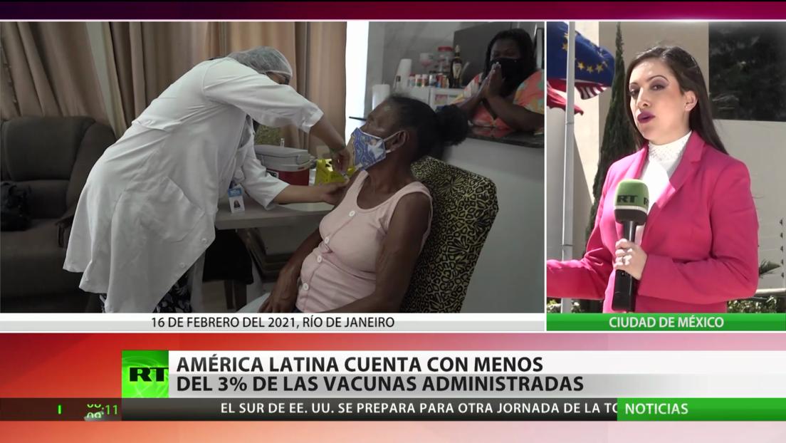 América Latina cuenta con menos del 3 % de las vacunas contra el coronavirus administradas a nivel mundial