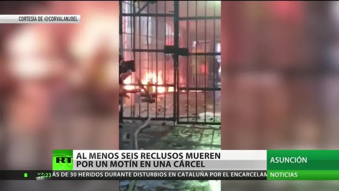 Paraguay: Al menos 6 muertos durante un motín en la mayor cárcel del país