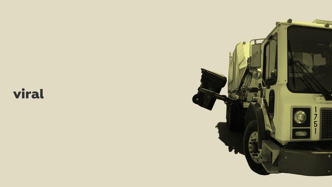 Un niño se esconde en un contenedor de basura mientras juega y casi termina triturado dentro de un camión recogedor