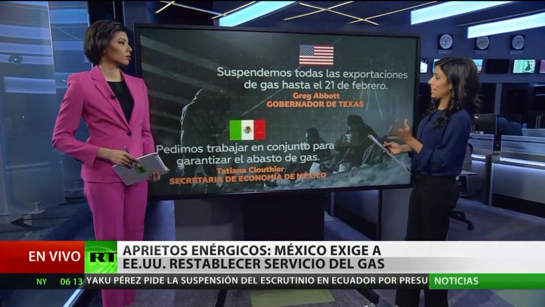 México exige a EE.UU. restablecer el servicio del gas