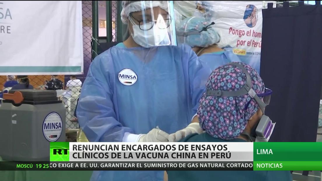 Renuncian los encargados de ensayos clínicos de la vacuna china Sinopharm en Perú