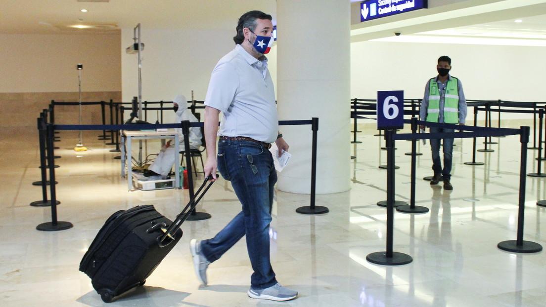 """""""Se están muriendo"""": el senador Ted Cruz afronta críticas por irse a Cancún en plena tormenta invernal en Texas"""