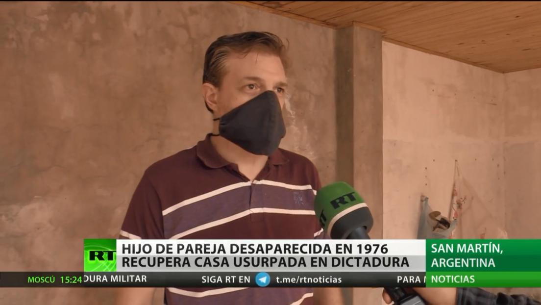 Hijo de pareja desaparecida en 1976 recupera su casa usurpada durante la dictadura argentina