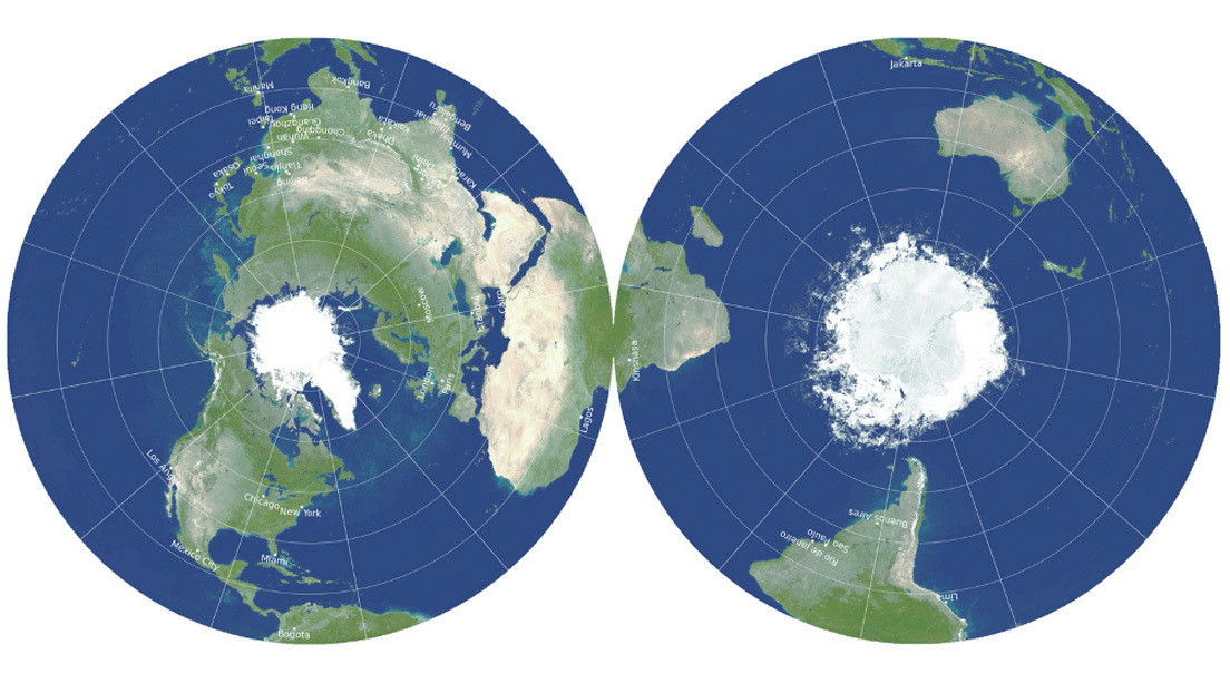 """Proponen un mapa """"radicalmente diferente"""" que representa el mundo en 2D con la mayor exactitud"""