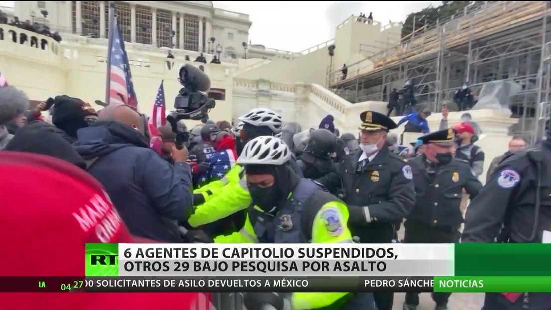 EE.UU.: Seis policías del Capitolio suspendidos y otros 29 investigados por el asalto