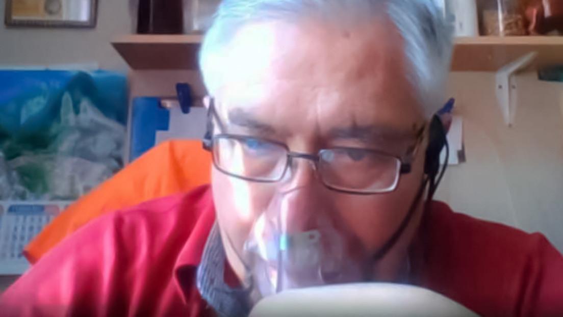 Muere por secuelas del covid-19 un profesor peruano que impartía clases usando un tanque de oxígeno