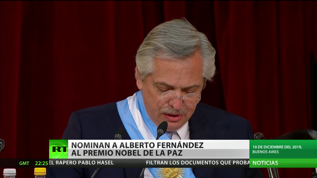 Nominan al presidente de Argentina, Alberto Fernández, para el Nobel de la Paz
