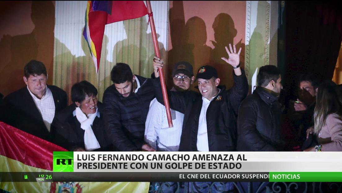 Bolivia: el excandidato presidencial Luis Fernando Camacho amenaza con dar un golpe de Estado