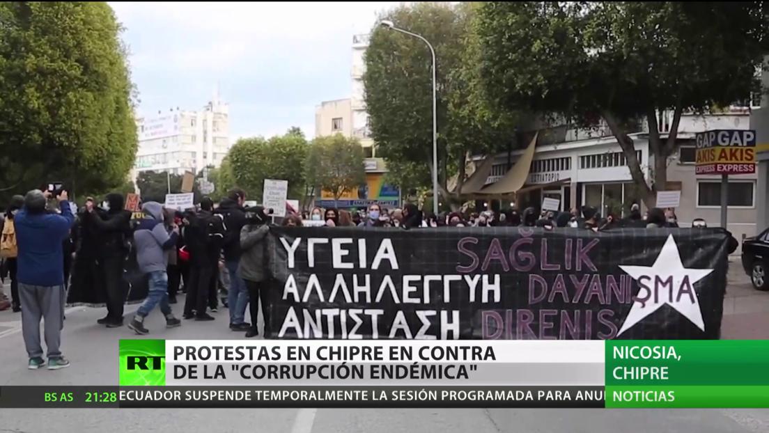 """Protestas en Chipre contra la """"corrupción endémica"""" y las formas autoritarias de la clase gobernante"""