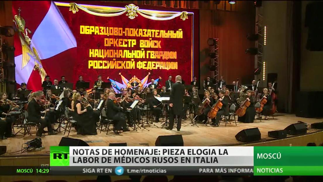 Notas de homenaje: pieza musical elogia la labor de los médicos rusos en Italia