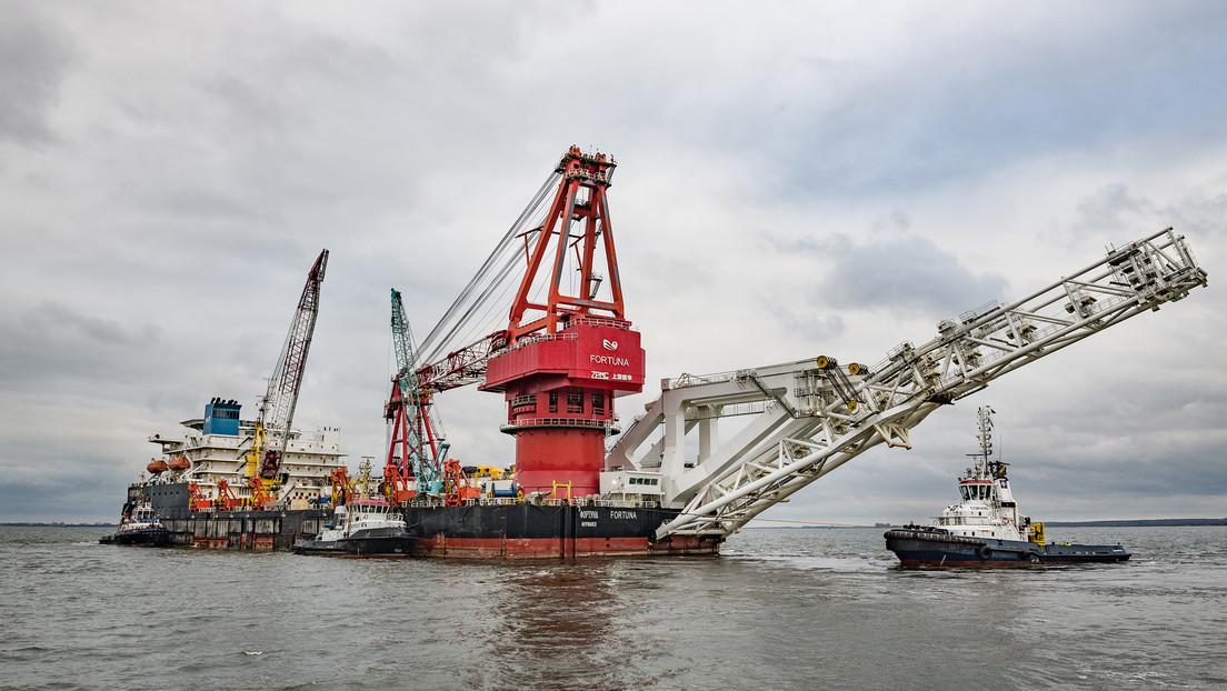 EE.UU. incluye en una nueva lista de sanciones al barco ruso Fortuna, que participa en la construcción del gasoducto Nord Stream 2